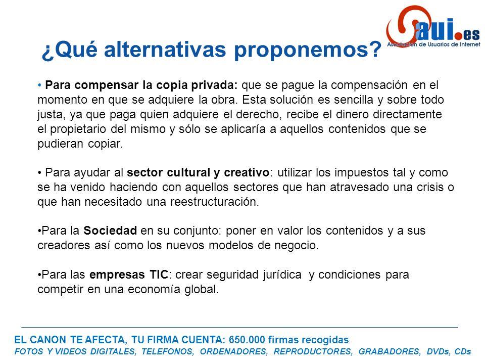 EL CANON TE AFECTA, TU FIRMA CUENTA: 650.000 firmas recogidas FOTOS Y VIDEOS DIGITALES, TELEFONOS, ORDENADORES, REPRODUCTORES, GRABADORES, DVDs, CDs P