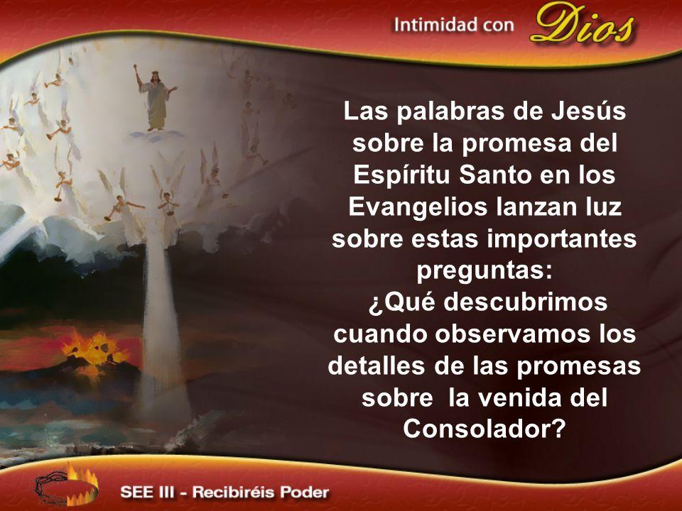 Las palabras de Jesús sobre la promesa del Espíritu Santo en los Evangelios lanzan luz sobre estas importantes preguntas: ¿Qué descubrimos cuando obse