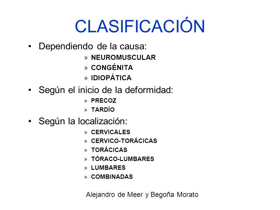 CAUSAS Genética Congénita Malformaciones de otros órganos Espasmos musculares Hernias de disco o tumores Alejandro de Meer y Begoña Morato