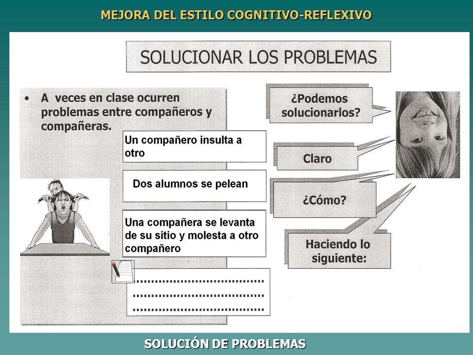 SOLUCIÓN DE PROBLEMAS MEJORA DEL ESTILO COGNITIVO-REFLEXIVO