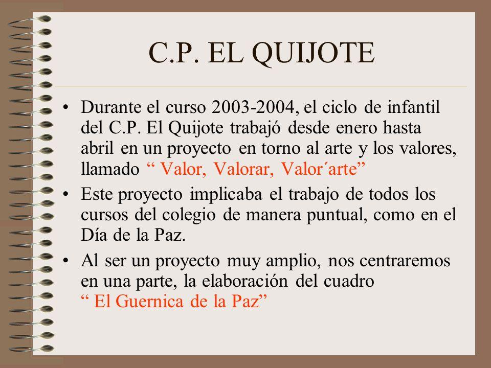 C.P.EL QUIJOTE Durante el curso 2003-2004, el ciclo de infantil del C.P.