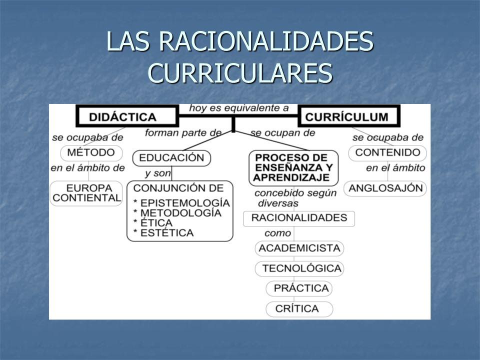 LAS RACIONALIDADES CURRICULARES