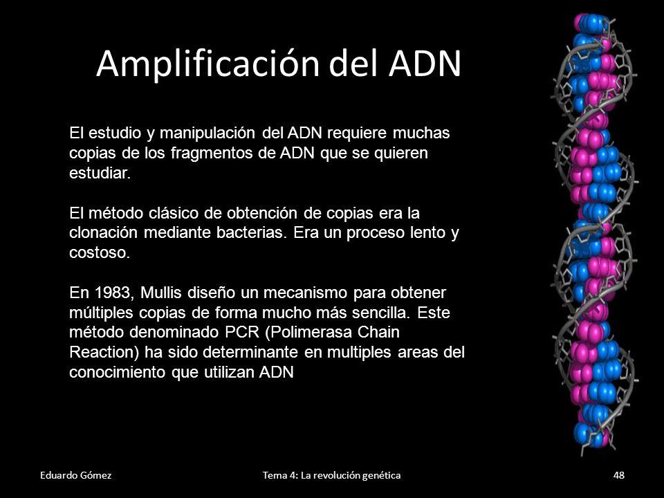 PCR Eduardo GómezTema 4: La revolución genética49