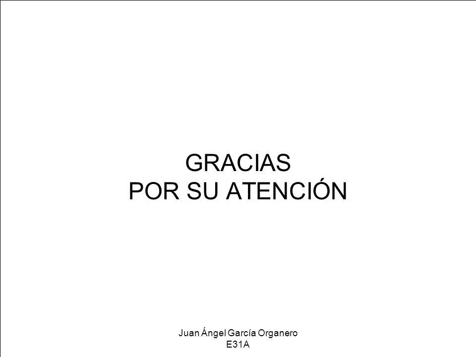 Juan Ángel García Organero E31A GRACIAS POR SU ATENCIÓN