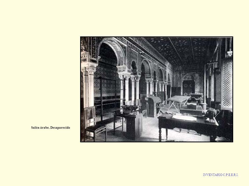 INVENTARIO C.P.E.E.R.I. Salón árabe. Desaparecido