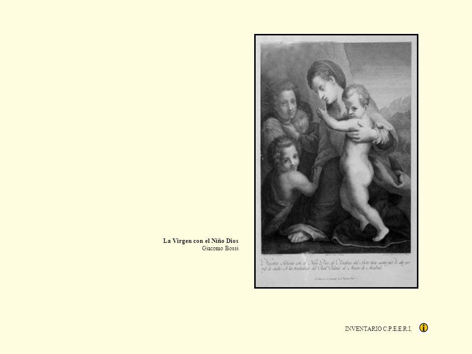 INVENTARIO C.P.E.E.R.I. La Virgen con el Niño Dios Giacomo Bossi