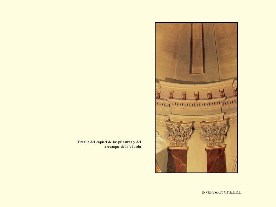INVENTARIO C.P.E.E.R.I. Detalle del capitel de las pilastras y del arranque de la bóveda