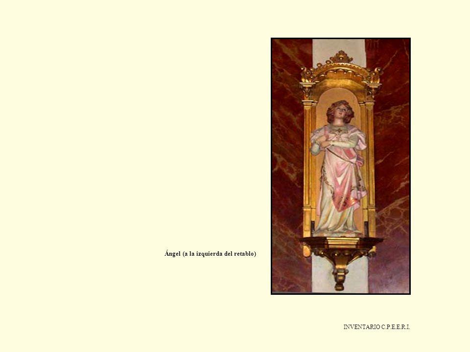 INVENTARIO C.P.E.E.R.I. Ángel (a la izquierda del retablo)