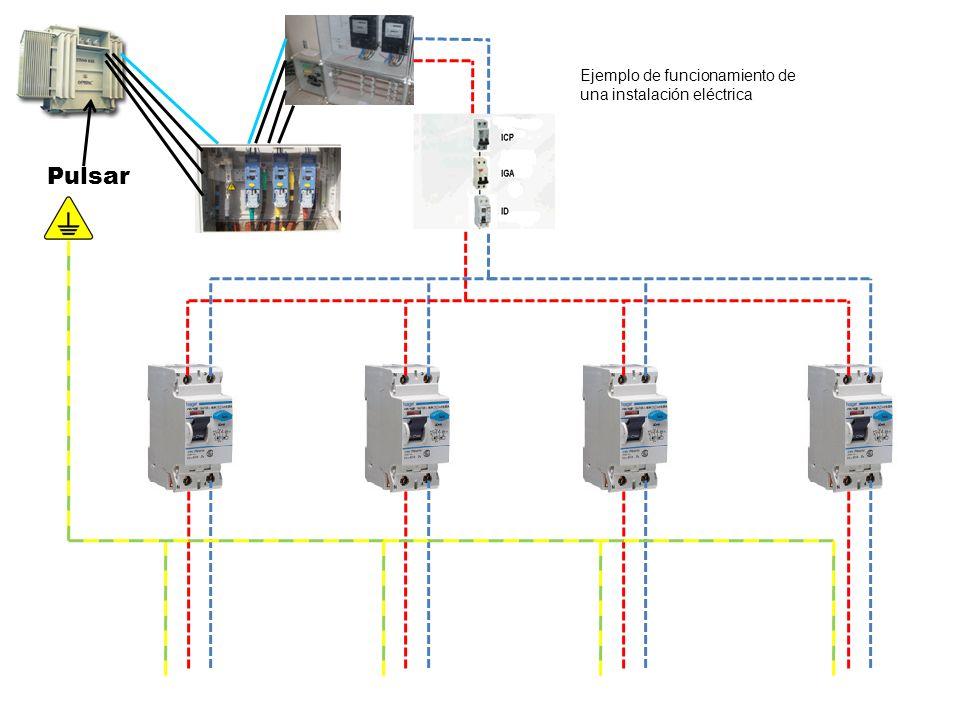 Pulsar Ejemplo de funcionamiento de una instalación eléctrica