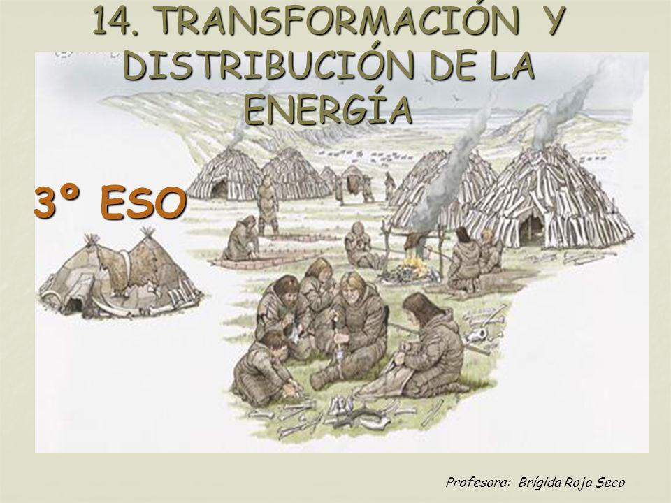 Profesora: Brígida Rojo Seco 14. TRANSFORMACIÓN Y DISTRIBUCIÓN DE LA ENERGÍA 3º ESO