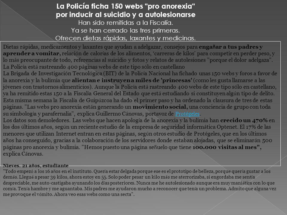 La Policía ficha 150 webs