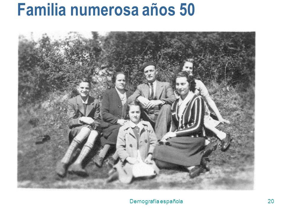Demografía española20 Familia numerosa años 50