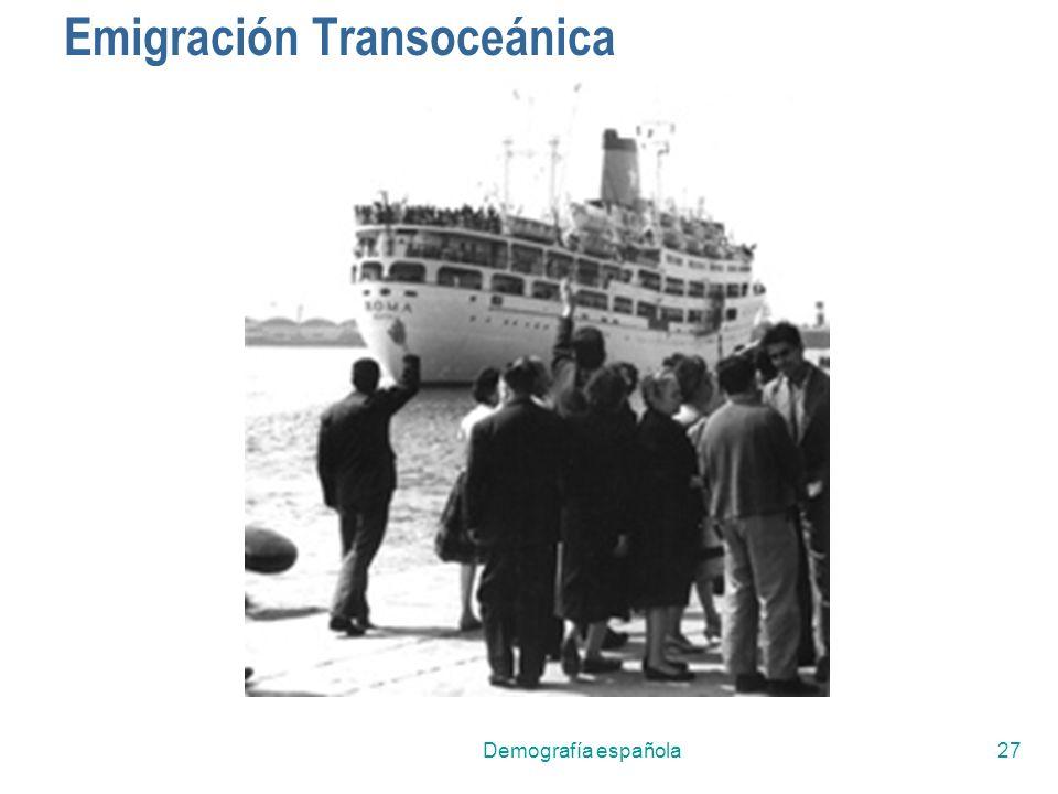 Demografía española27 Emigración Transoceánica