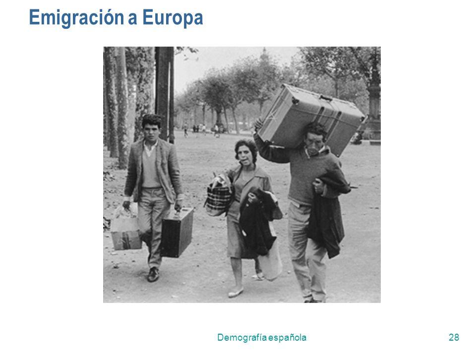 Demografía española28 Emigración a Europa