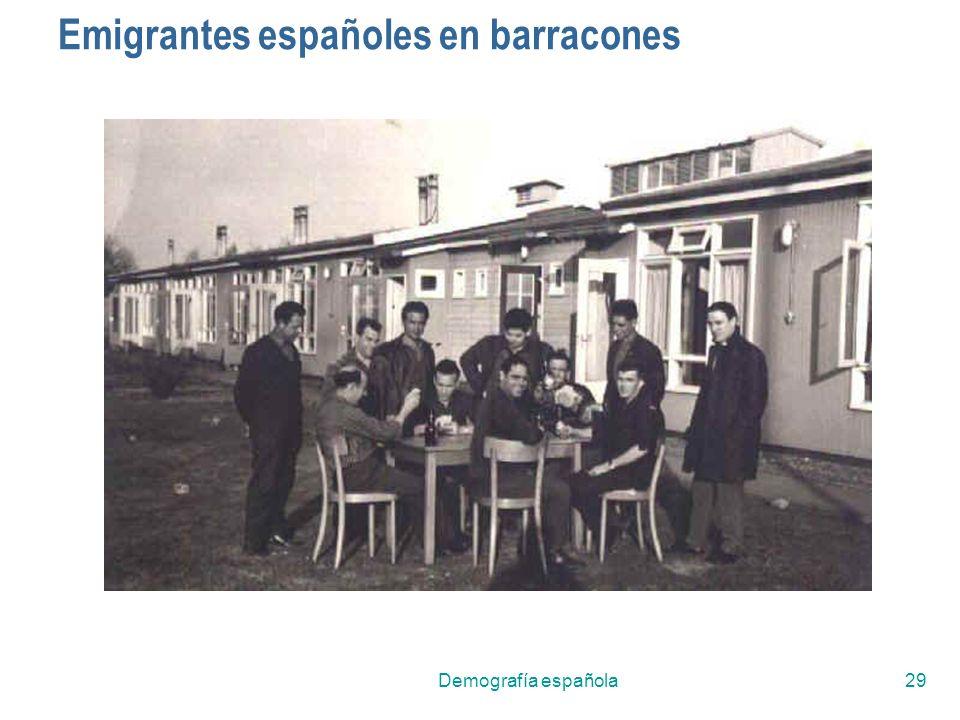 Demografía española29 Emigrantes españoles en barracones