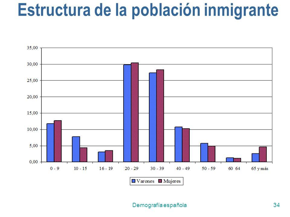 Demografía española34 Estructura de la población inmigrante