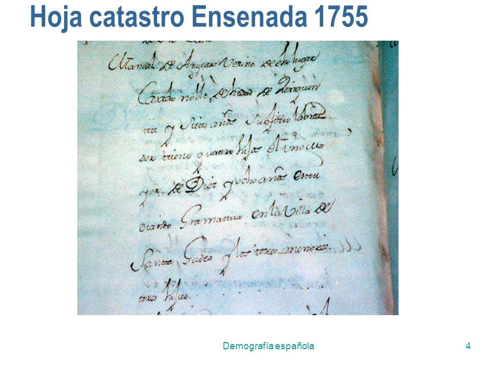 Demografía española4 Hoja catastro Ensenada 1755