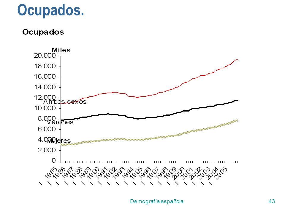 Demografía española43 Ocupados.