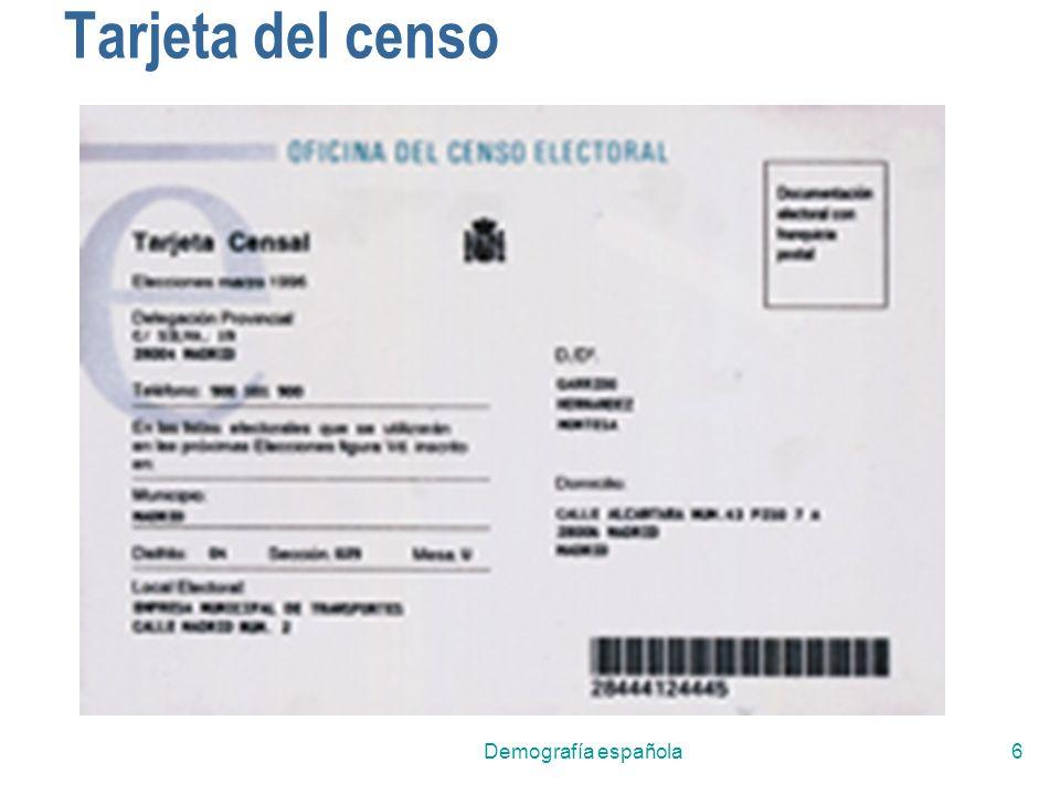 Demografía española6 Tarjeta del censo