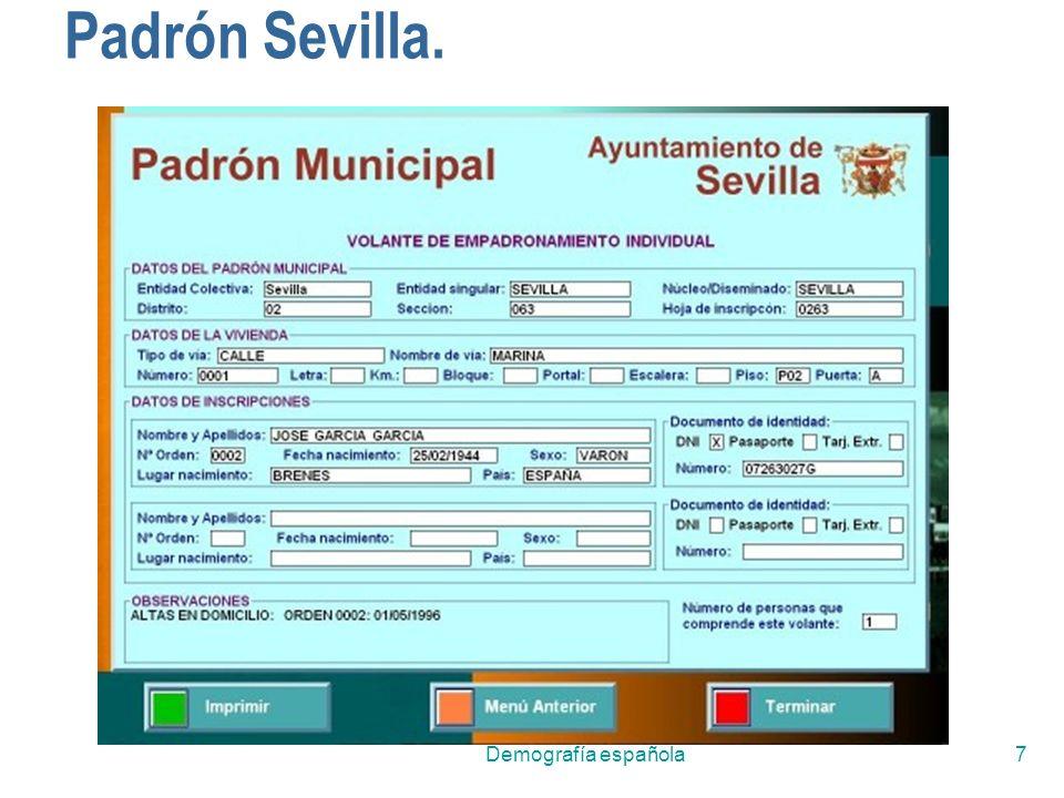 Demografía española7 Padrón Sevilla.