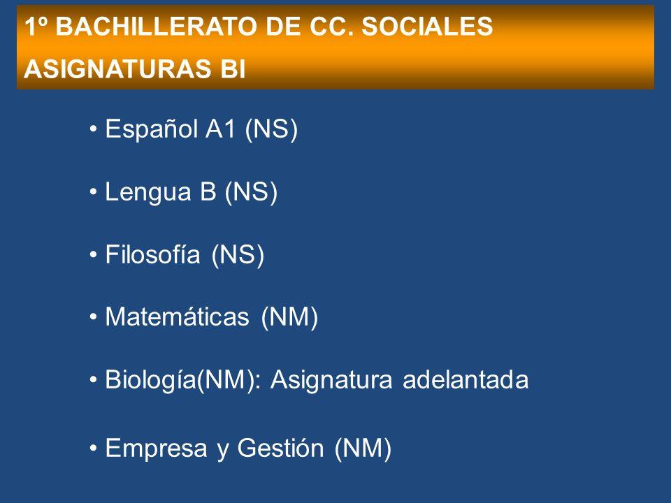 1º BACHILLERATO DE CC.