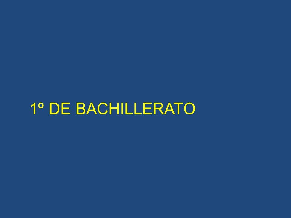 1º DE BACHILLERATO