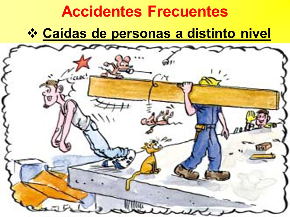 Accidentes Frecuentes Caídas de personas a distinto nivel