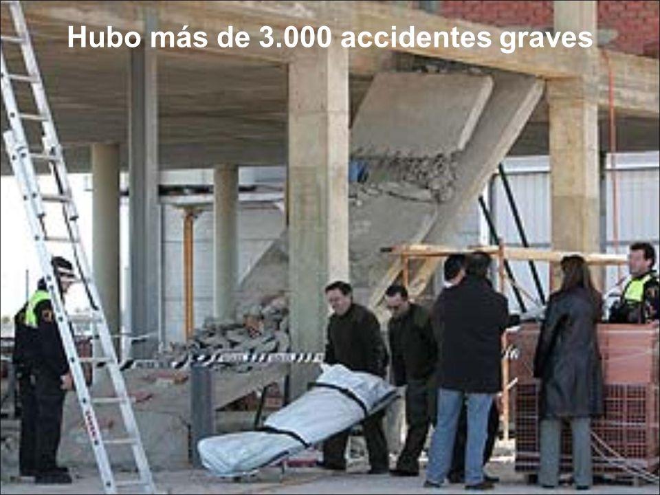 Hubo más de 3.000 accidentes graves