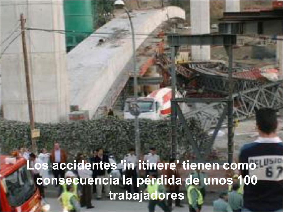 Los accidentes 'in itinere' tienen como consecuencia la pérdida de unos 100 trabajadores