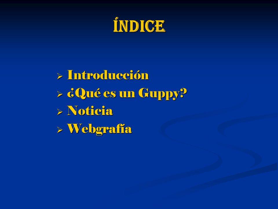 índice Introducción Introducción ¿Qué es un Guppy.