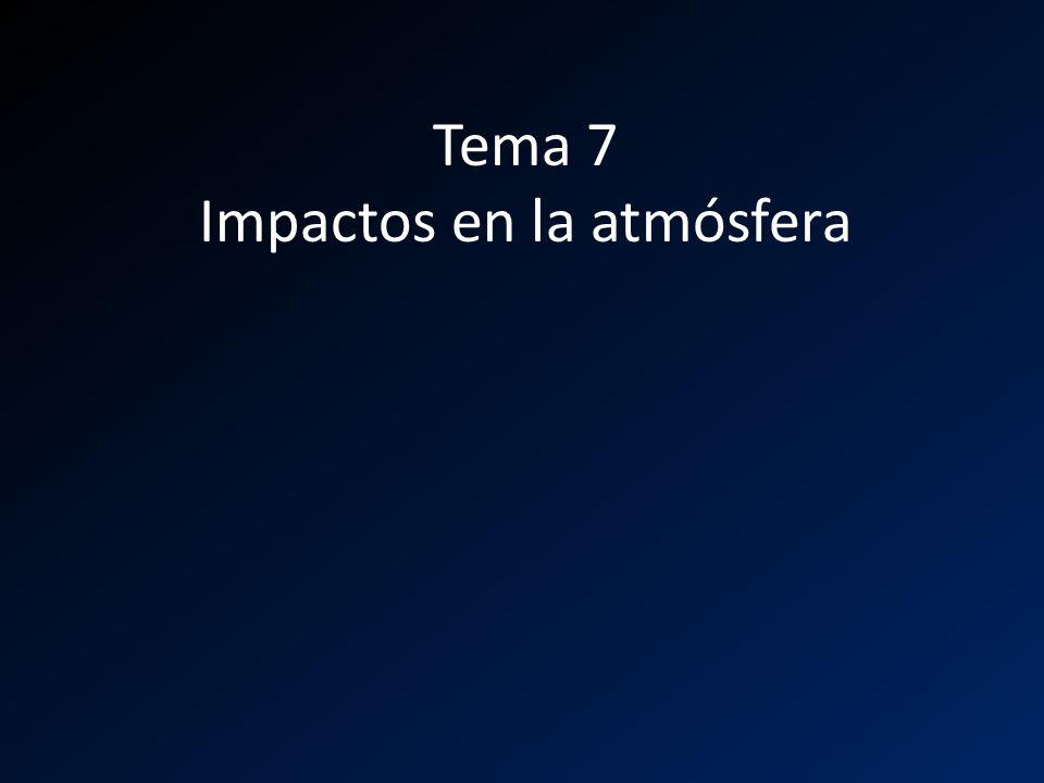 Tema 7 Impactos en la atmósfera