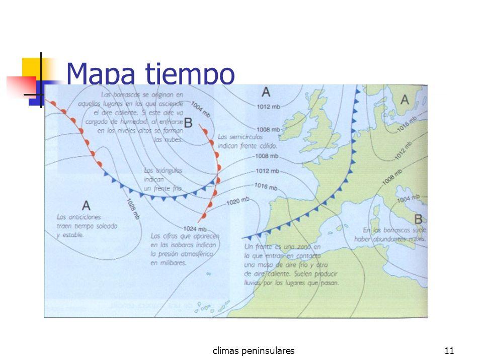 climas peninsulares11 Mapa tiempo