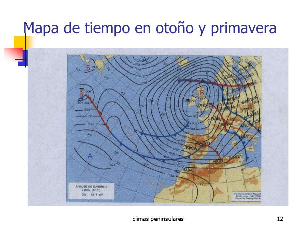 climas peninsulares12 Mapa de tiempo en otoño y primavera