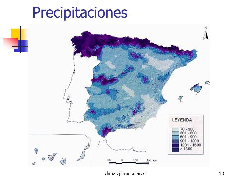 climas peninsulares18 Precipitaciones