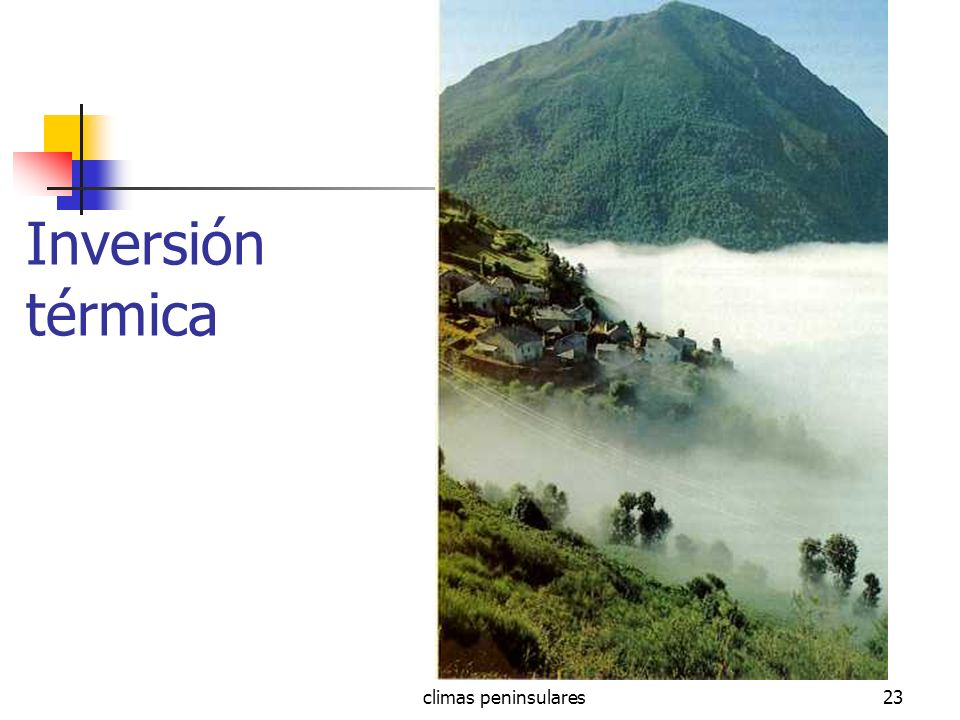 climas peninsulares23 Inversión térmica