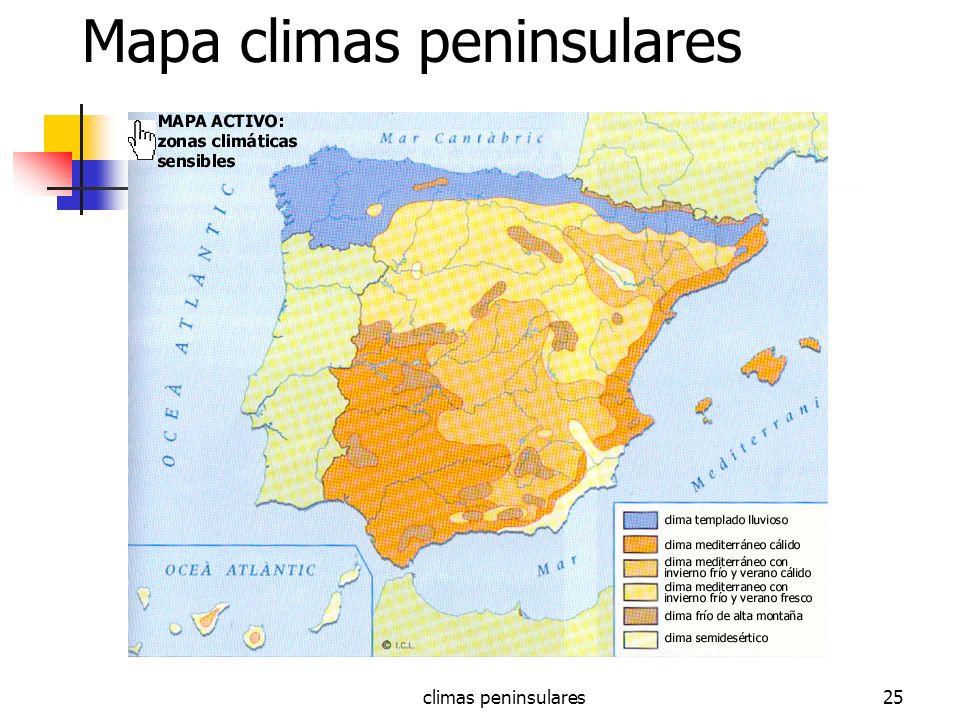 climas peninsulares25 Mapa climas peninsulares