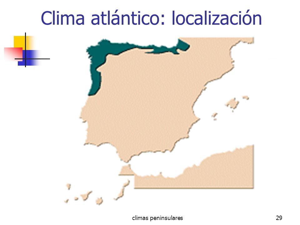 climas peninsulares29 Clima atlántico: localización