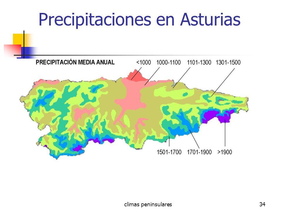 climas peninsulares34 Precipitaciones en Asturias