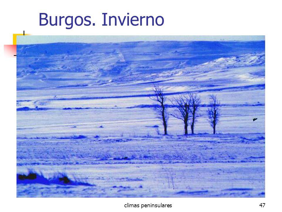climas peninsulares47 Burgos. Invierno