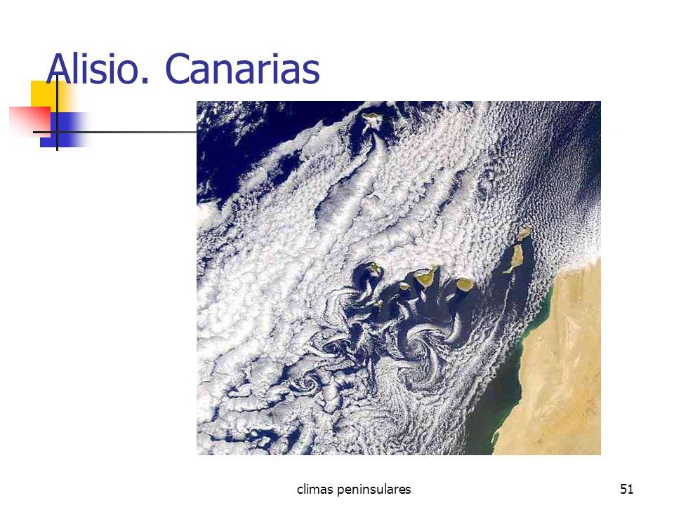 climas peninsulares51 Alisio. Canarias