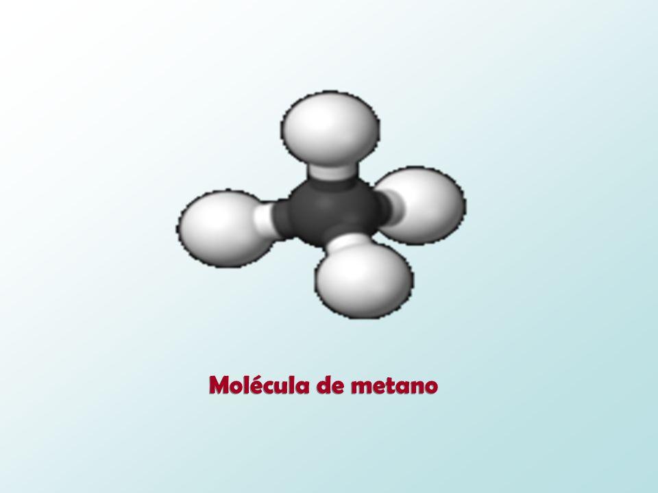 Molécula de metano