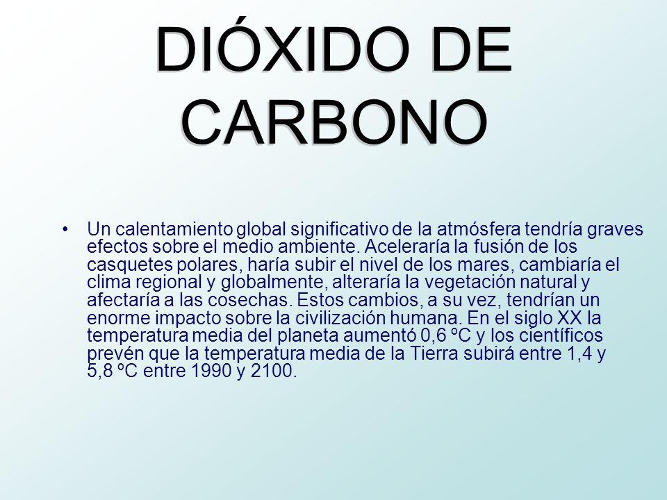 Un calentamiento global significativo de la atmósfera tendría graves efectos sobre el medio ambiente. Aceleraría la fusión de los casquetes polares, h