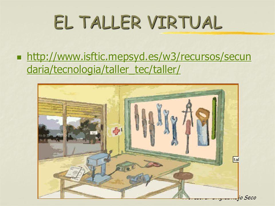 Profesora: Brígida Rojo Seco EL TALLER VIRTUAL http://www.isftic.mepsyd.es/w3/recursos/secun daria/tecnologia/taller_tec/taller/ http://www.isftic.mep