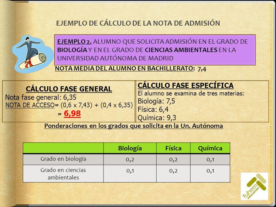 Para el grado de biologíaPara el grado de CC.