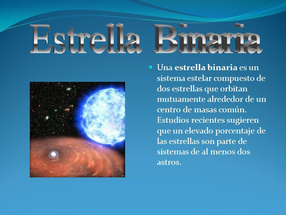 Una estrella binaria es un sistema estelar compuesto de dos estrellas que orbitan mutuamente alrededor de un centro de masas común. Estudios recientes
