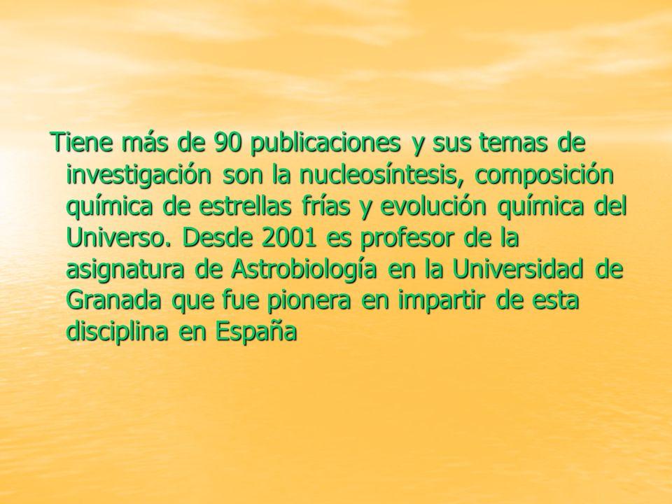 INVESTIGADORES INVESTIGADORES Olga Zamora : Olga Zamora : Colaboradora del proyecto, lincenciada en astrofísica. Joven promesa. Carlos Abia : Carlos A