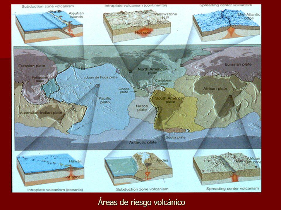 Áreas de riesgo volcánico
