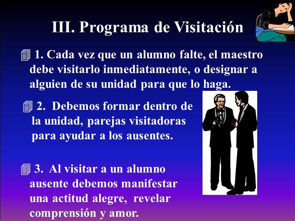 III.Programa de Visitación 1.