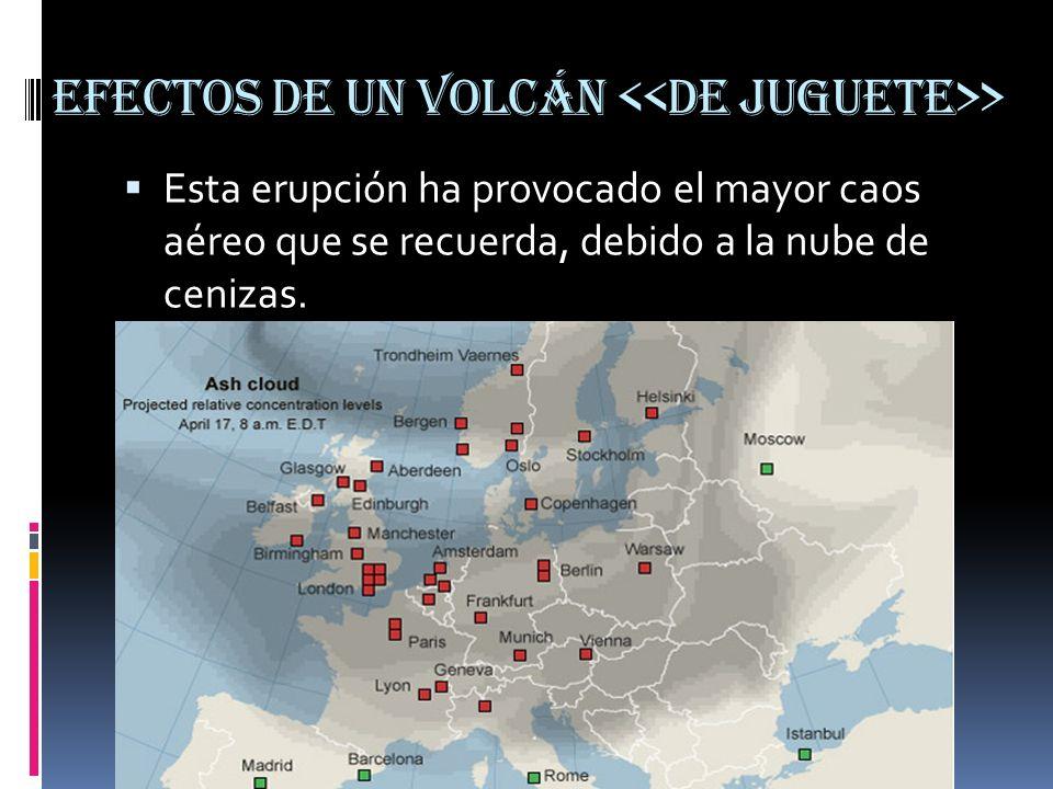 Efectos de un volcán > Esta erupción ha provocado el mayor caos aéreo que se recuerda, debido a la nube de cenizas.