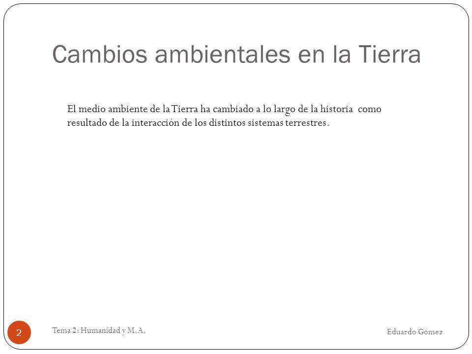 Clasificación de impactos Eduardo Gómez Tema 2: Humanidad y M.A.